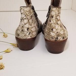 Sam Edelman Shoes - AMAZING snakeskin leather booties Sam Edelman